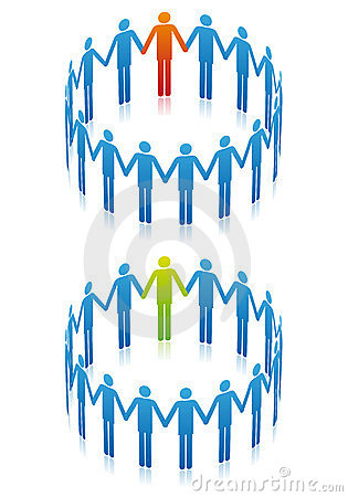 People in circle, vector