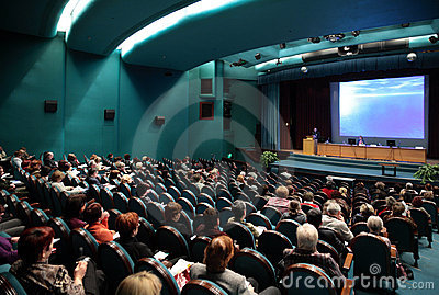People on conference Editorial Stock Image