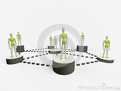 People connected to a network