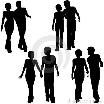 People Couples Walk Love