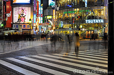 People cross the street in shibuya , tokyo , japan Editorial Photography