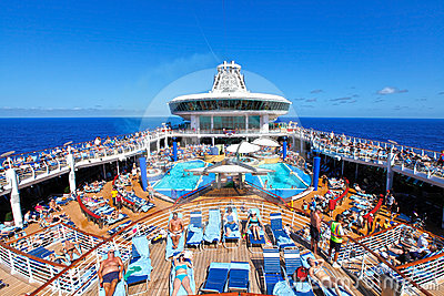 People cruise ship deck Editorial Photography