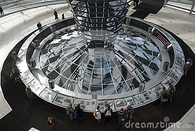 The Cupola on top of the Reichstag building in Berlin Editorial Photo