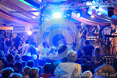 People dancing  at CibinFest beer festival Editorial Stock Photo