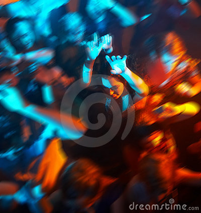 Free People Dancing In A Bar Or Nightclub At A Party Stock Image - 8082441