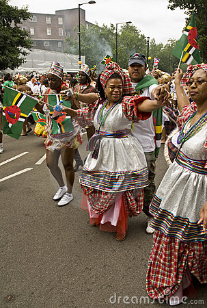 People dancing at the Notting Hill Carnival Editorial Stock Image