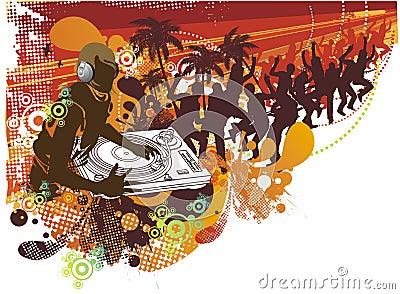 People dancing in the summer