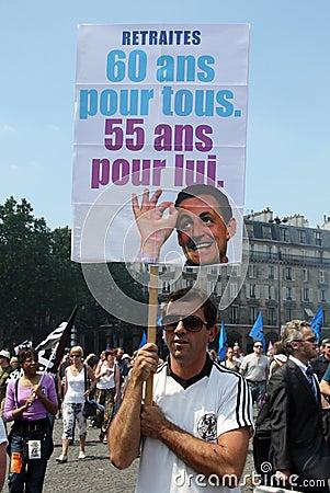 People demonstrate in Paris Editorial Photo