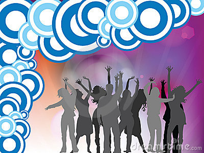 People disco background