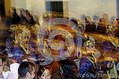 People disguised 24.- Brass band Editorial Photography