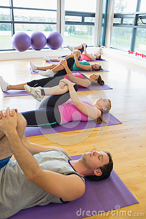 People doing the supine wind release posture