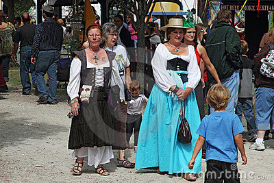 People dressed in medieval costumes Editorial Stock Image