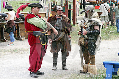 People dressed in medieval costumes Editorial Stock Photo