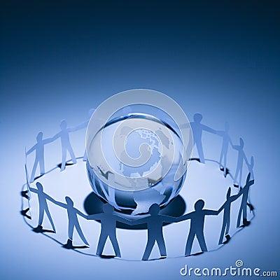 Free People Embracing Earth Stock Image - 4413501