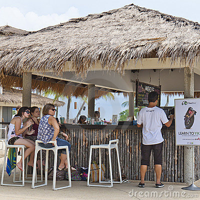 People enjoying a bar at Sentosa Island Editorial Stock Image