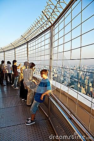 People enjoying view across Bangkok Editorial Photo