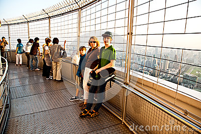 People enjoying view across Bangkok Editorial Image