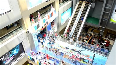 People On Escalator Is A Moving Staircase At Shopping Mall Stock Video    Video: 52624413