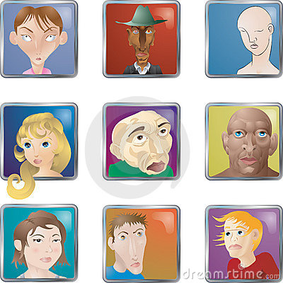 People Faces Icons Avatars