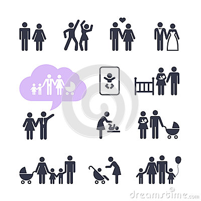 People Family Pictogram set
