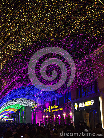 Free People Flock To Shopping Mall During New Year Period In Beijing, China Stock Photos - 85479063