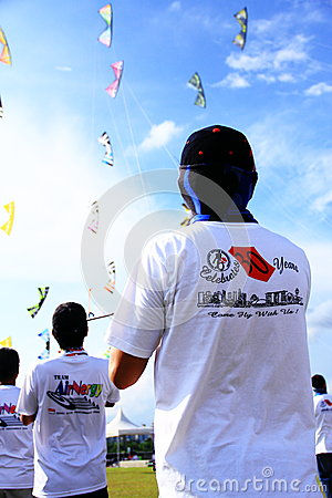 People flying kites Editorial Photo