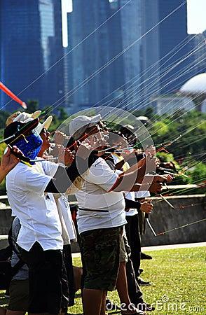 flying kites team Editorial Image