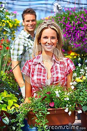 People in the garden