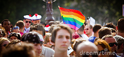 People during Gay Pride Editorial Photography