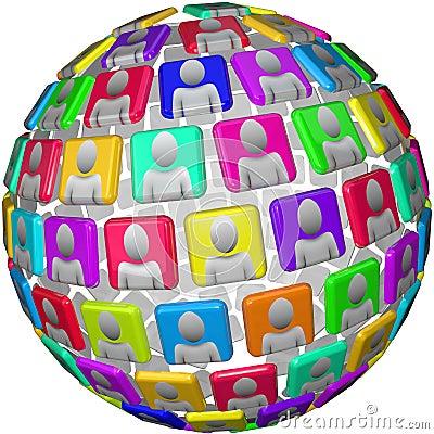 People in Global Social Network Sphere