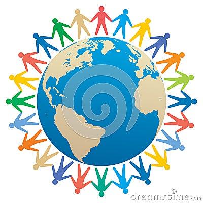 people & globe