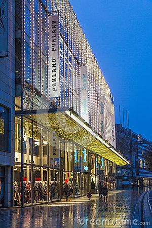 People go shopping at the Zeil Editorial Photo