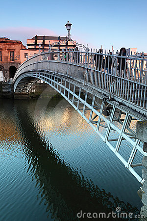 People going on Ha penny Bridge