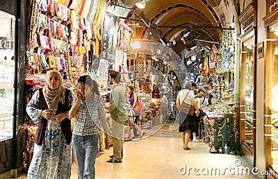 People in Grand Bazaar Editorial Photo