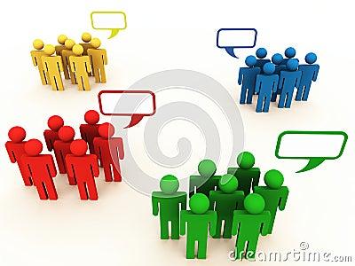 People groups or teams in conversation