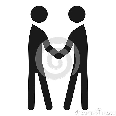 People handshake icon, simple style Vector Illustration