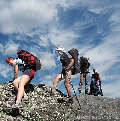 People in hiking