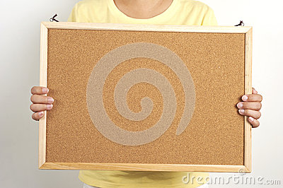 People holding the cork board