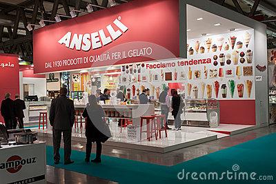 People at Host 2013 in Milan, Italy Editorial Stock Image