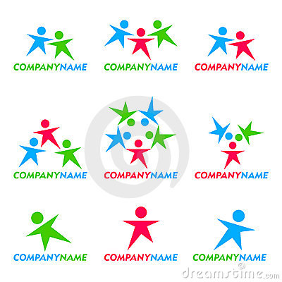 People icon and logo design