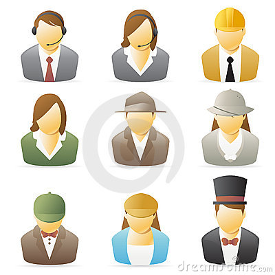 Free People Icon: Occupations Set 2 Royalty Free Stock Photo - 8065395