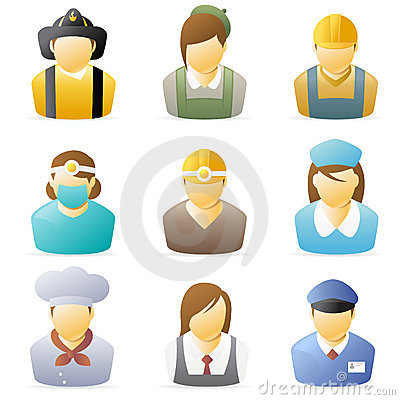 Free People Icon: Occupations Set 4 Royalty Free Stock Images - 8065449