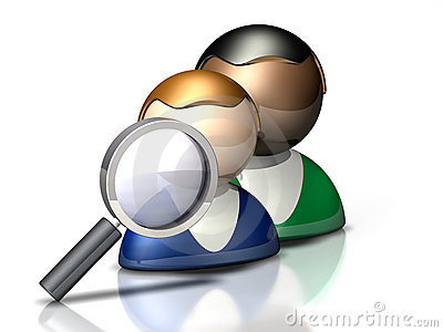 People Icon: Search
