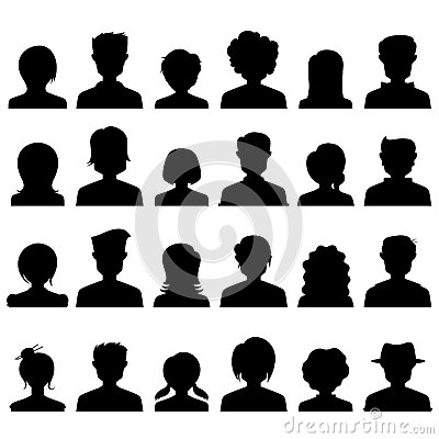 Free People Icon Silhouette Royalty Free Stock Photography - 40471307