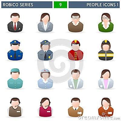 Free People Icons [1] - Robico Series Royalty Free Stock Photos - 13525578