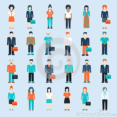 Free People Icons Business Man Situations Web Template Royalty Free Stock Photo - 46820105