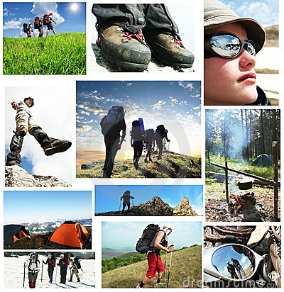 Free People In Hike Royalty Free Stock Photography - 5775907