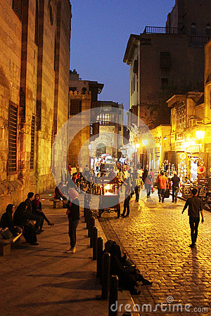 Free People In Historical Moez Street In Egypt Stock Images - 58935894