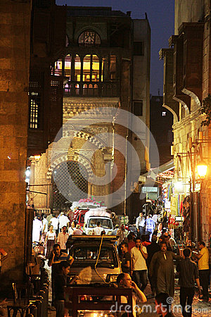 Free People In Historical Moez Street In Egypt Royalty Free Stock Images - 58936009