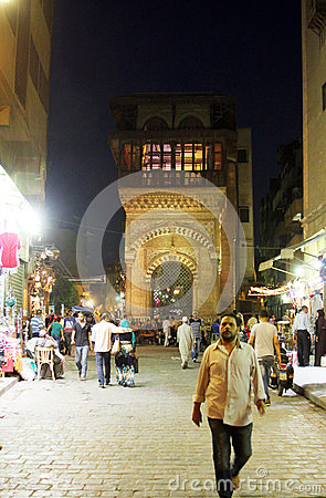 Free People In Historical Moez Street In Egypt Royalty Free Stock Photos - 58936308